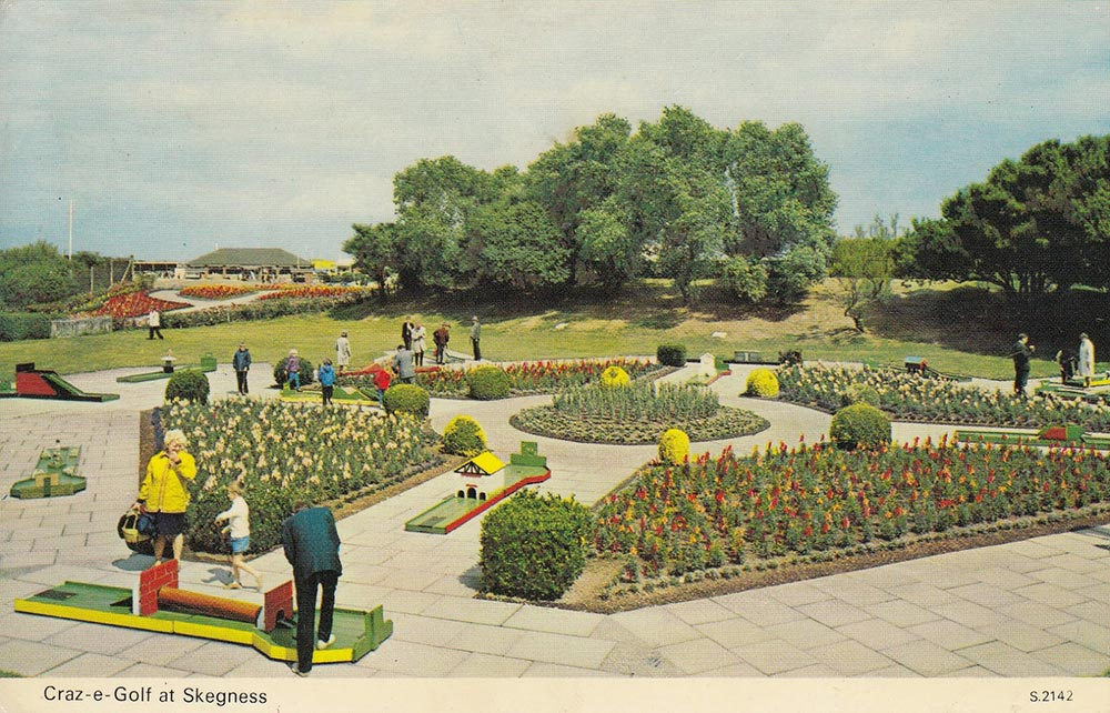 Crazy Golf Postcard