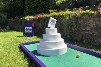 Wedding Crazy Golf Wedding Cake