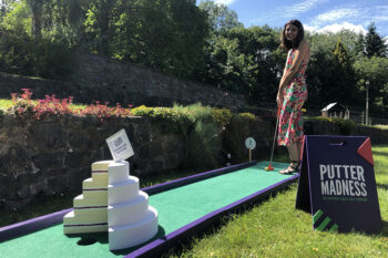 Crazy Golf Wedding Cake