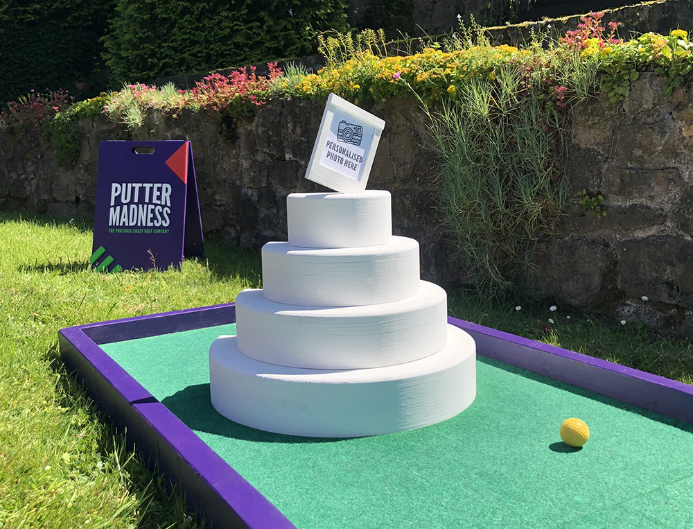 Wedding Crazy Golf Cake